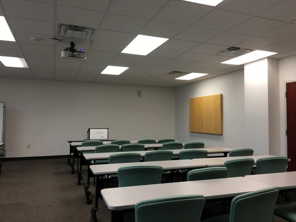 Training room interior design for Interior design training