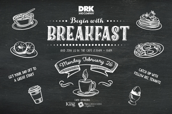 Beging with Breakfast at The DEC! (Tenant ONLY Event)