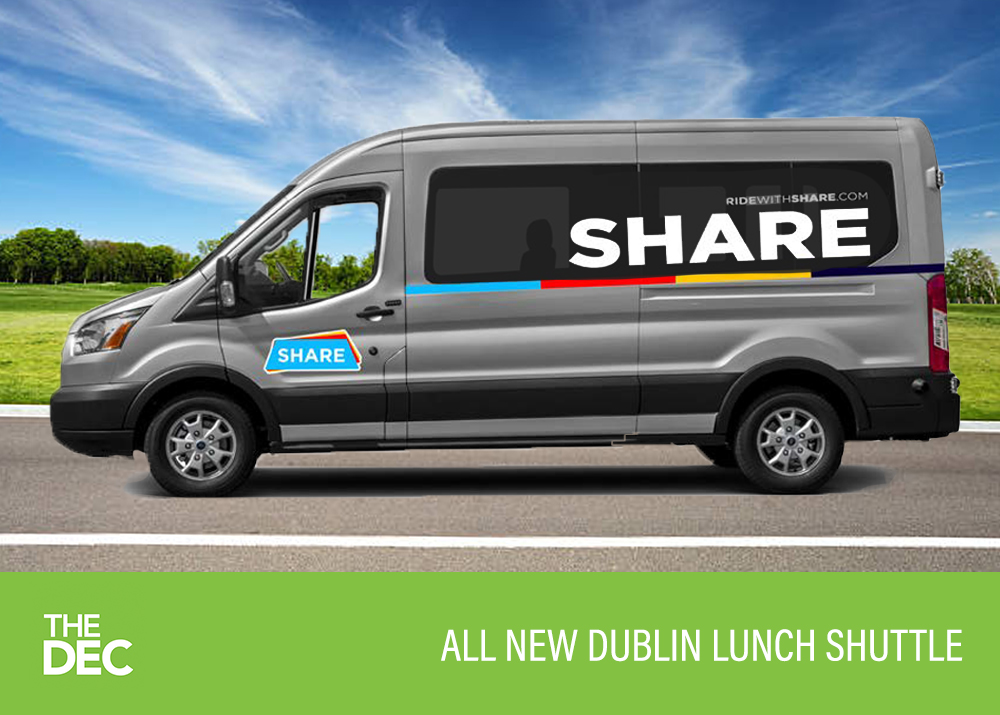 Take a bite out of your lunchtime commute with our FREE Dublin shuttle service!
