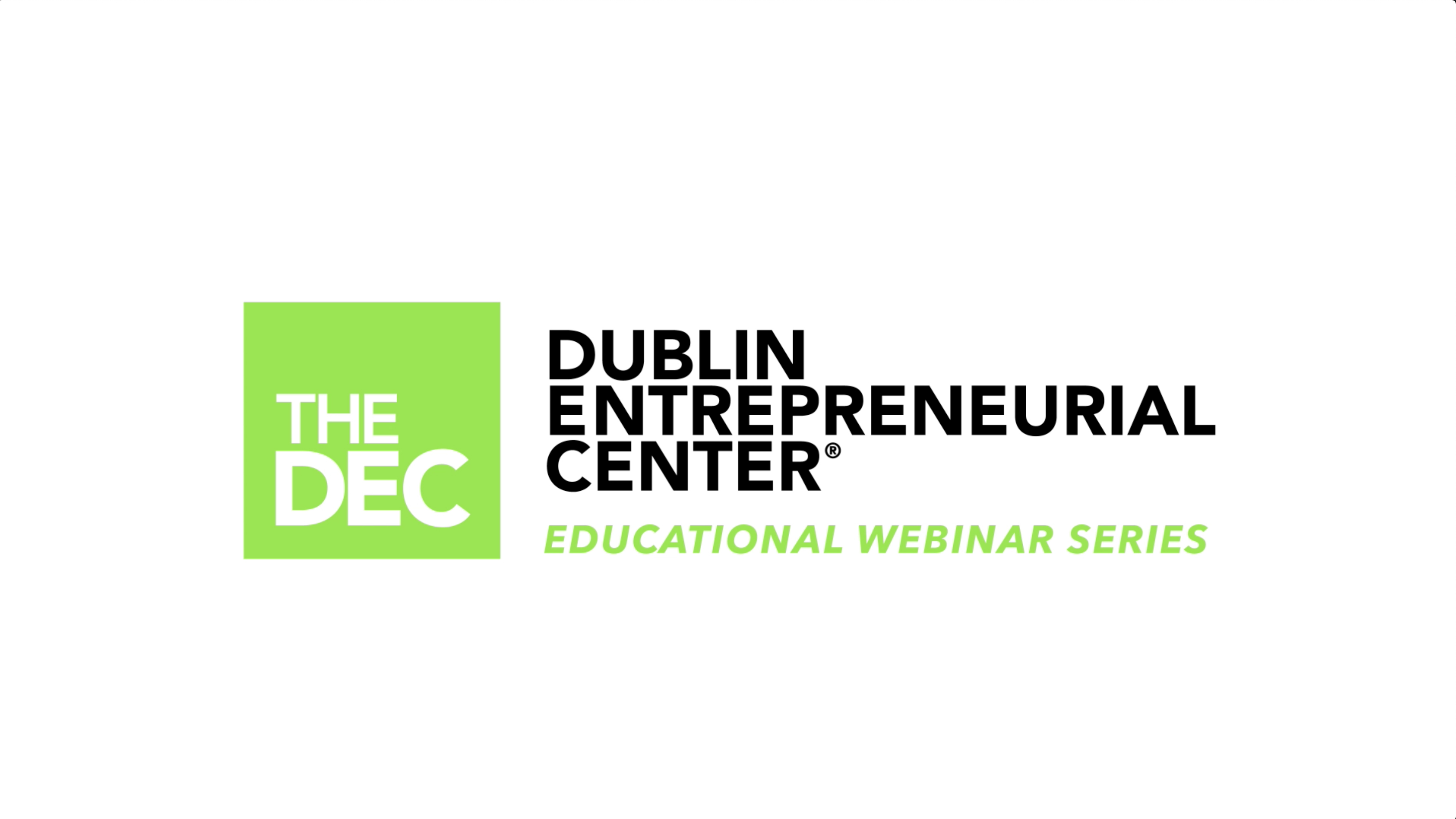 The DEC Educational Webinar Series Ep1 w/ Rick Gerber