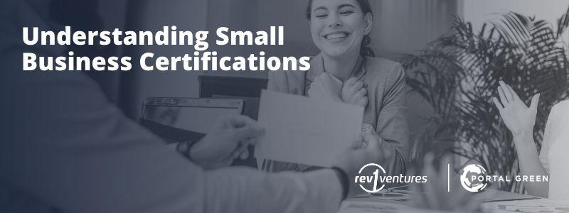 Understanding Small Business Certifications: ZOOM Recording